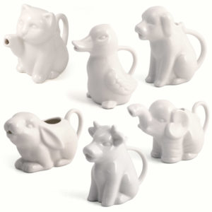 Animal milk jugs