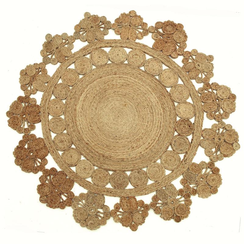 Armadillo Flower Rug Marigold