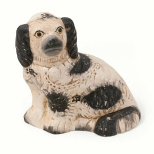 Staffordshire Dog Figurine - Black