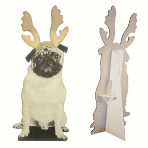 Pug with Antlers