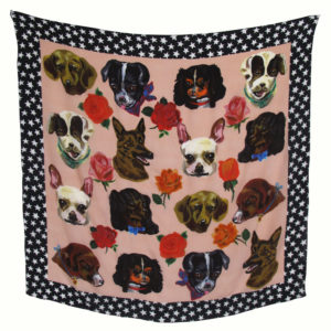 Dog Faces Scarf by Nathalie Lete