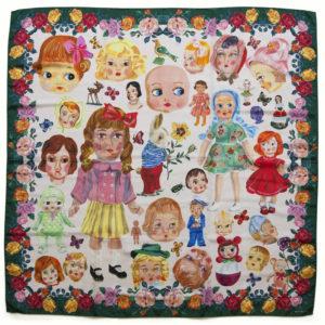 Nathalie Lete silk scarf - dolls