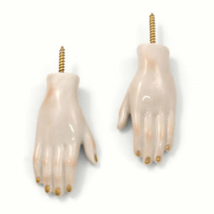 little ceramic hands - slender, downturned