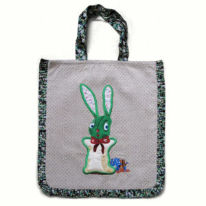 Nathalie Lete Green Rabbit Bag