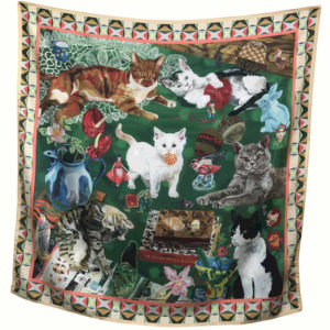 Nathalie Lete Silk Scarf - Life Of Cats